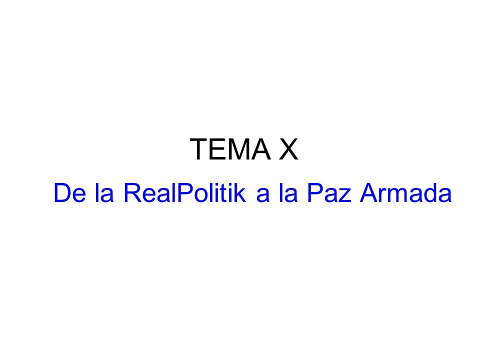 TEMA X De la RealPolitik a la Paz Armada