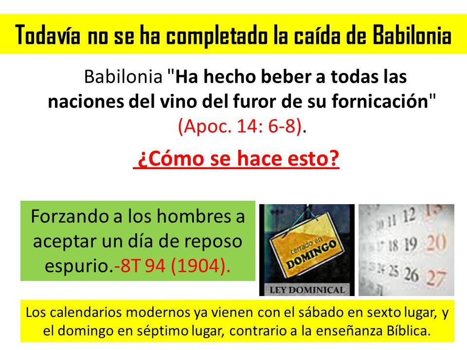 Todavía no se ha completado la caída de Babilonia Babilonia