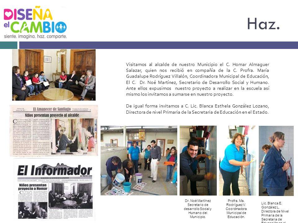 Visitamos al alcalde de nuestro Municipio el C. Homar Almaguer Salazar, quien nos recibió en compañía de la C. Profra. María Guadalupe Rodríguez Villa