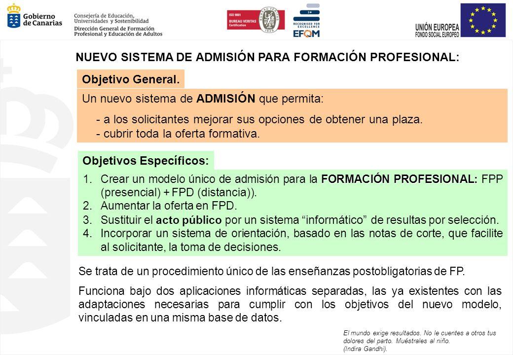 Se trata de un procedimiento único de las enseñanzas postobligatorias de FP. Funciona bajo dos aplicaciones informáticas separadas, las ya existentes