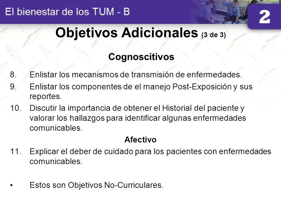 8.Enlistar los mecanismos de transmisión de enfermedades. 9.Enlistar los componentes de el manejo Post-Exposición y sus reportes. 10.Discutir la impor