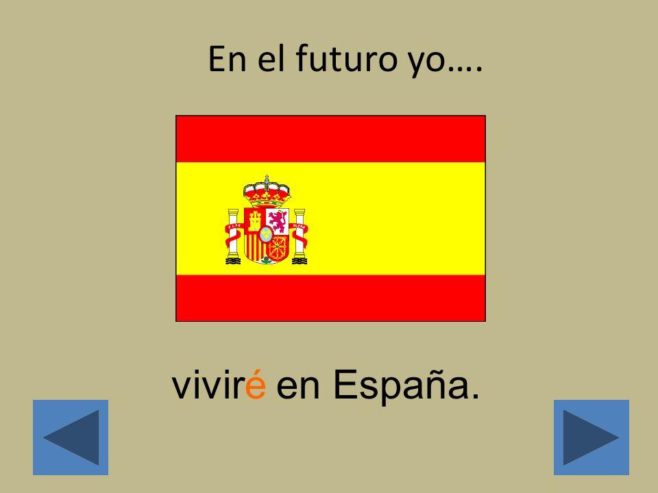 Main Menu: En el futuro…… Click on a subject pronoun to find out how to form the future tense Yo Tú Él/Ella/ Usted Nosotros Vosotros Ellos/Ellas/ Uste