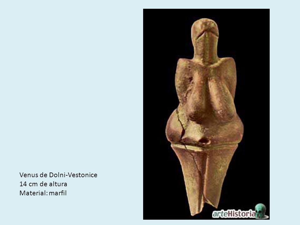 Venus de Dolni-Vestonice 14 cm de altura Material: marfil