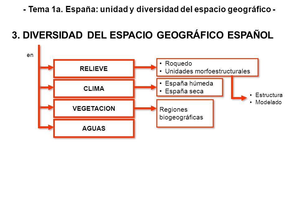 CLIMA VEGETACION AGUAS RELIEVE en - Tema 1a. España: unidad y diversidad del espacio geográfico - 3. DIVERSIDAD DEL ESPACIO GEOGRÁFICO ESPAÑOL Roquedo