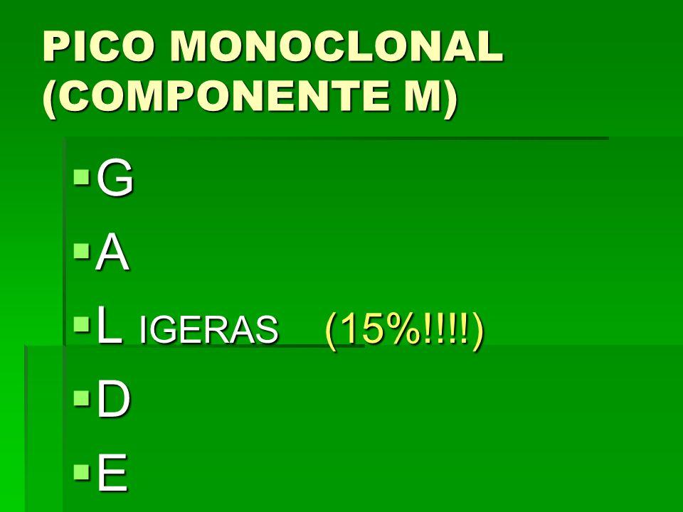 PICO MONOCLONAL (COMPONENTE M) G A L IGERAS (15%!!!!) L IGERAS (15%!!!!) D E