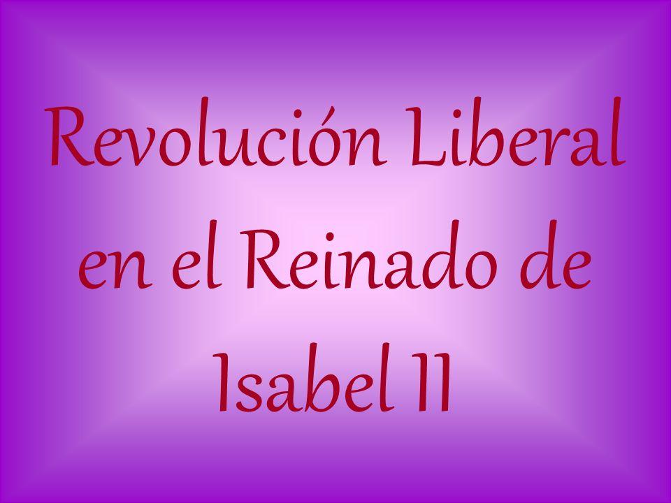Revolución Liberal en el Reinado de Isabel II