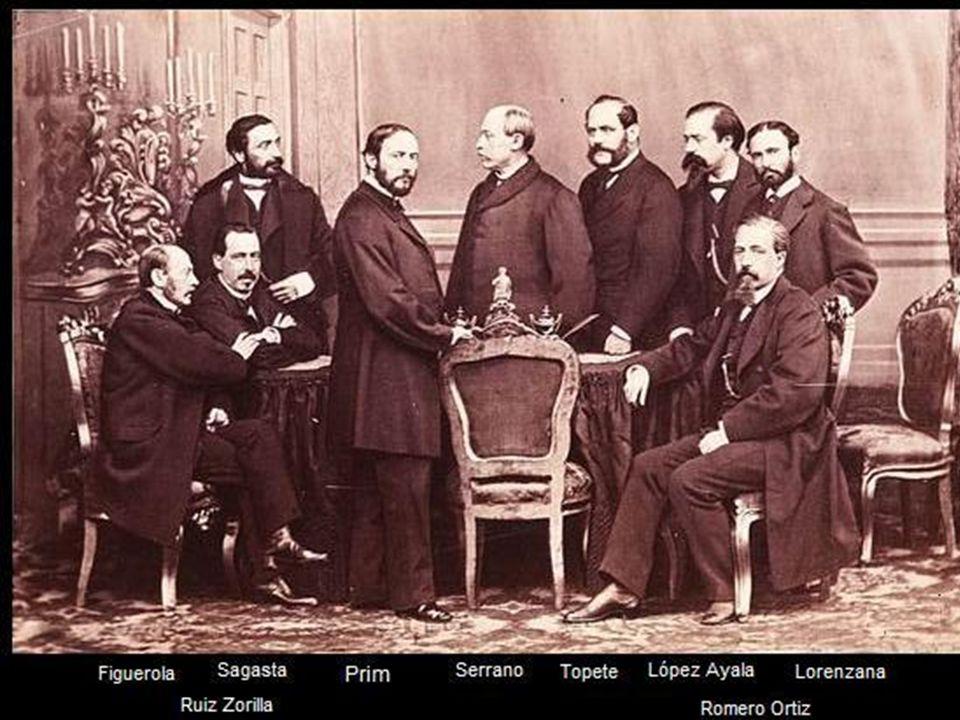 1866.PACTO DE OSTENDE: Unión de los progresistas y los demócratas, que se habían desgajado de los progresistas porque querían una constitución que sur