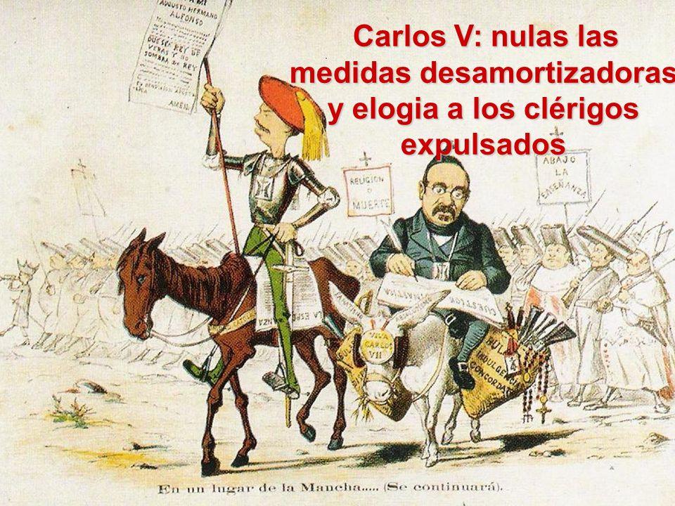Carlos V: nulas las medidas desamortizadoras y elogia a los clérigos expulsados