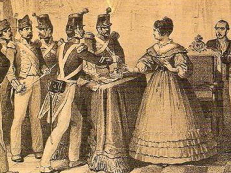 Agosto, 1836. PRONUNCIAMIENTO DE LOS SARGENTOS DE LA GRANJA Obligan a María Cristina a firmar la Constitución de 1812
