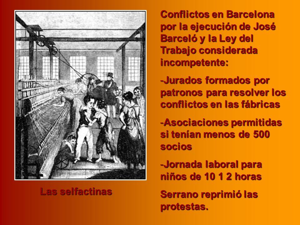 Conflictos en Barcelona por la ejecución de José Barceló y la Ley del Trabajo considerada incompetente: -Jurados formados por patronos para resolver l