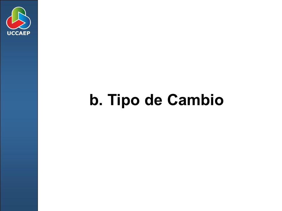 b. Tipo de Cambio