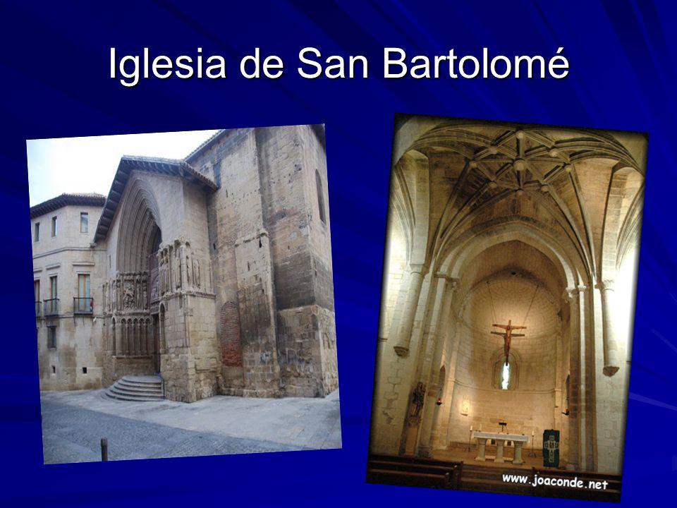 Iglesia de san Bartolomé La iglesia románica fue erigida a inicios del XIII dentro del recinto de la ciudad, adosada a la muralla.