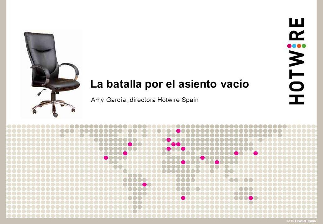 La batalla por el asiento vacío Amy García, directora Hotwire Spain