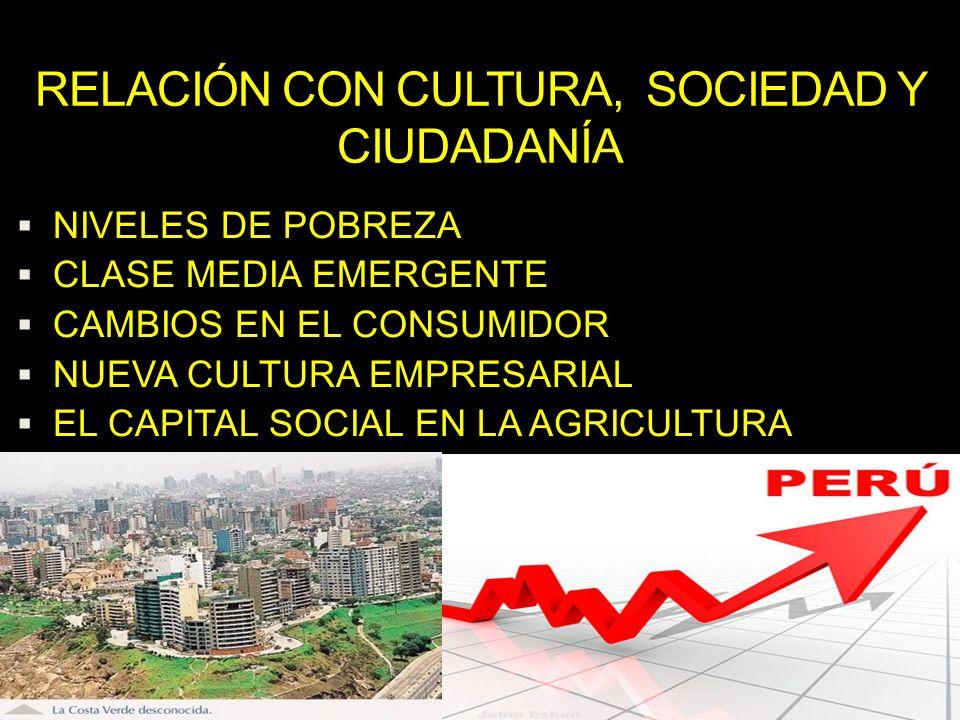 NIVELES DE POBREZA CLASE MEDIA EMERGENTE CAMBIOS EN EL CONSUMIDOR NUEVA CULTURA EMPRESARIAL EL CAPITAL SOCIAL EN LA AGRICULTURA