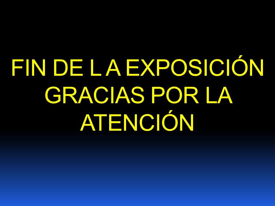 FIN DE L A EXPOSICIÓN GRACIAS POR LA ATENCIÓN