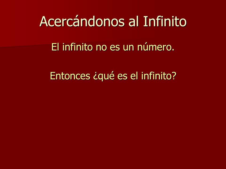 Acercándonos al Infinito El infinito no es un número. Entonces ¿qué es el infinito?