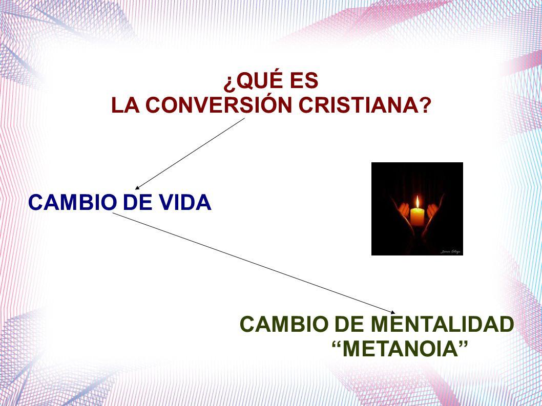 ¿QUÉ ES LA CONVERSIÓN CRISTIANA? CAMBIO DE VIDA CAMBIO DE MENTALIDAD METANOIA