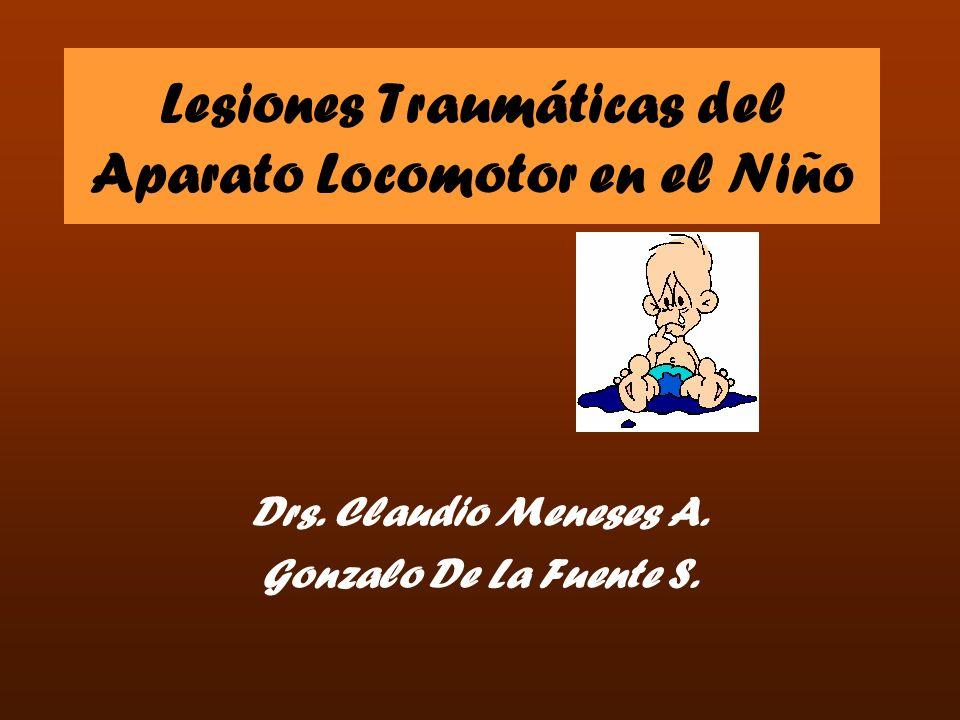 Lesiones Traumáticas del Aparato Locomotor en el Niño Drs. Claudio Meneses A. Gonzalo De La Fuente S.