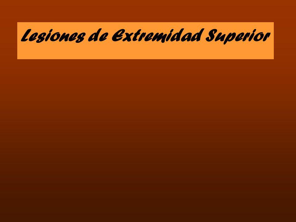 Lesiones de Extremidad Superior