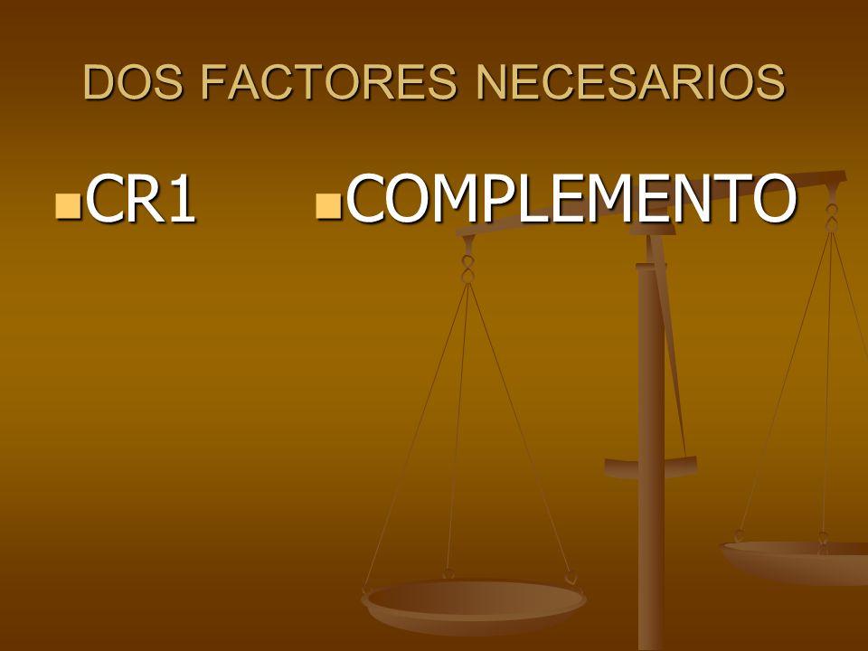 DOS FACTORES NECESARIOS CR1 CR1 COMPLEMENTO