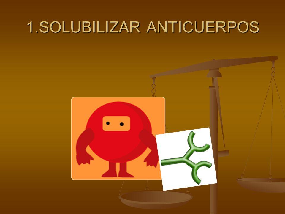 1.SOLUBILIZAR ANTICUERPOS