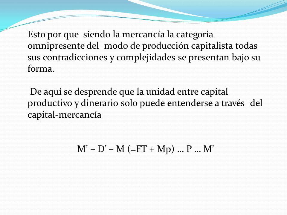 Esto por que siendo la mercancía la categoría omnipresente del modo de producción capitalista todas sus contradicciones y complejidades se presentan b