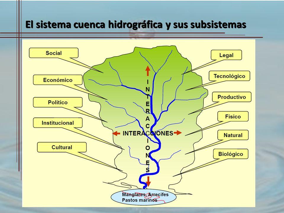 El sistema cuenca hidrográfica y sus subsistemas