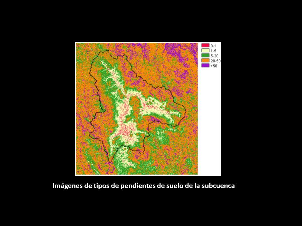 Imágenes de tipos de pendientes de suelo de la subcuenca Atoyac.