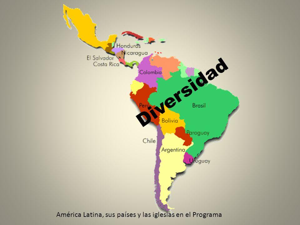 América Latina, sus países y las iglesias en el Programa Diversidad