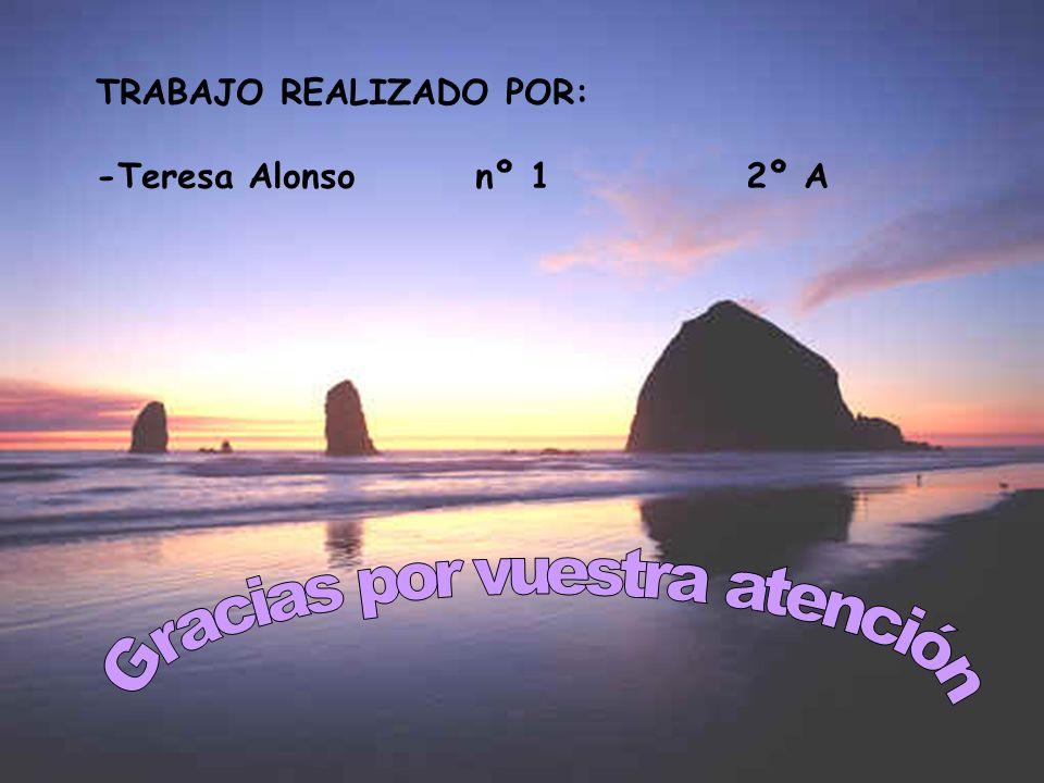 TRABAJO REALIZADO POR: -Teresa Alonso nº 1 2º A