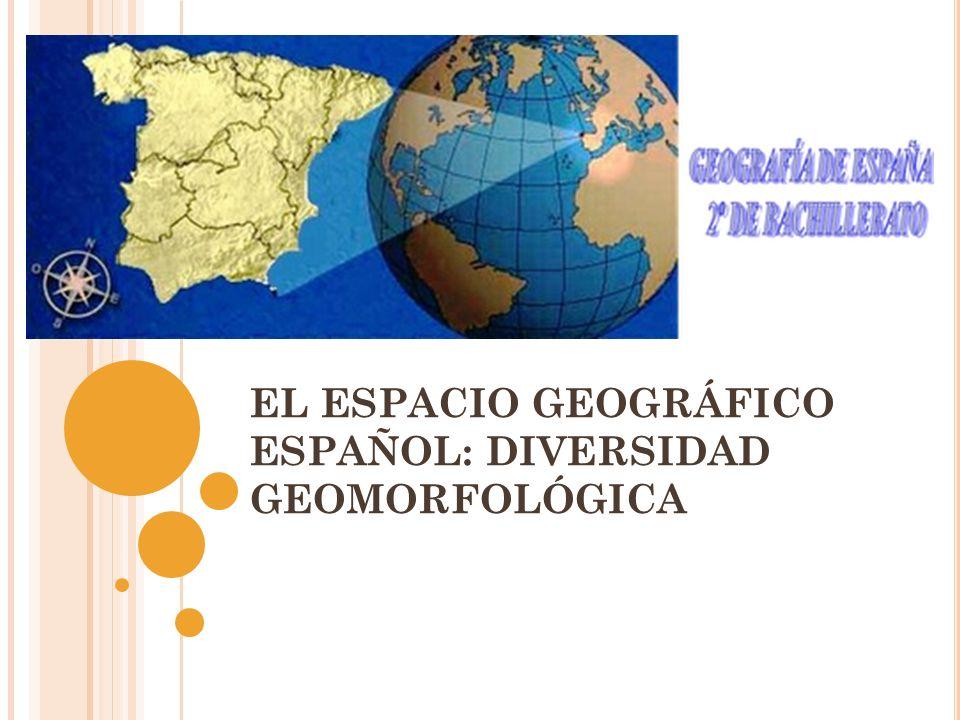 EL ESPACIO GEOGRÁFICO ESPAÑOL: DIVERSIDAD GEOMORFOLÓGICA