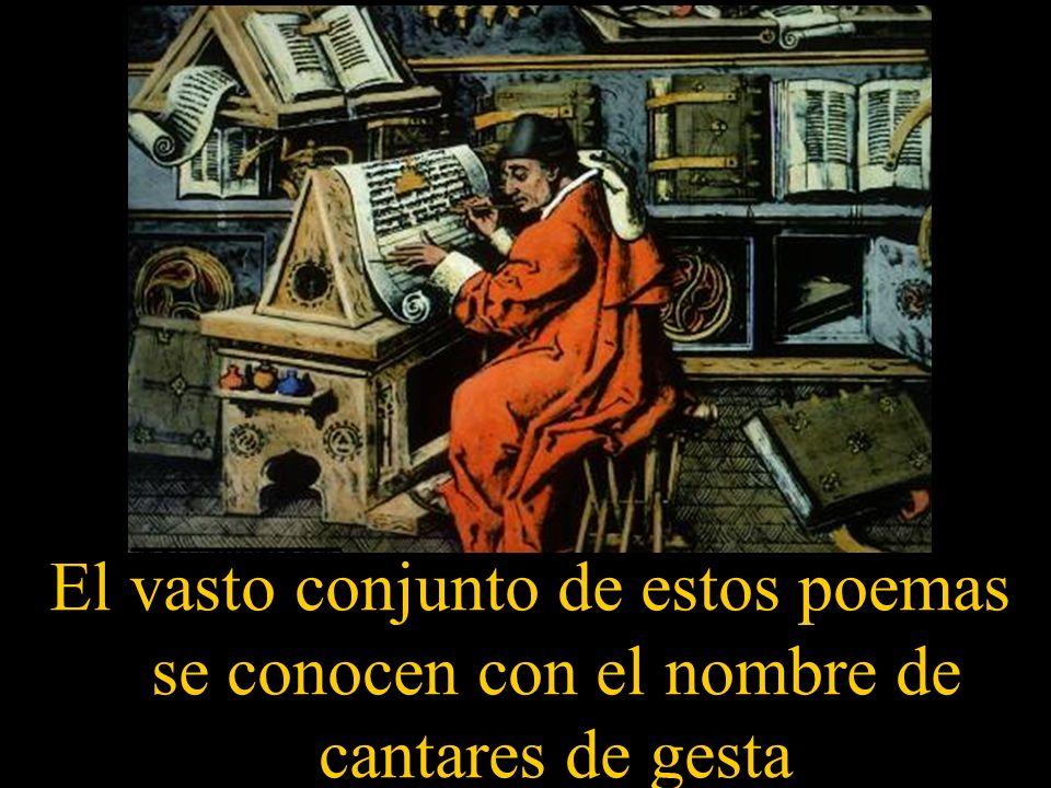 La poesía épica fue compuesta por juglares anónimos y destinada al canto.