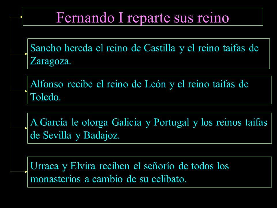 Sancho el Mayor Fernando I SanchoUrracaElviraGarcíaAlfonso El Cid Campeador (1043) Rodrigo Díaz es un noble de segunda oriundo de Vivar, un lugar al N
