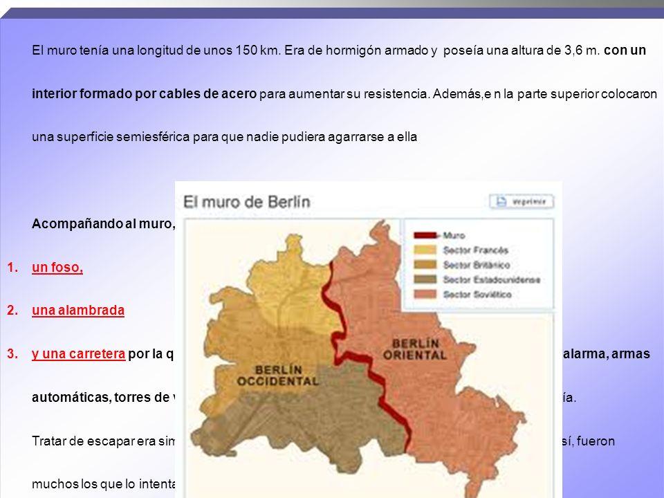 EL MURO DE BERLÍN, denominado 1. «MURO DE PROTECCIÓN ANTIFASCISTA» por la RepúblicaDemocrática Alemana – RDA 2.y «MURO DE LA VERGÜENZA» por parte de l