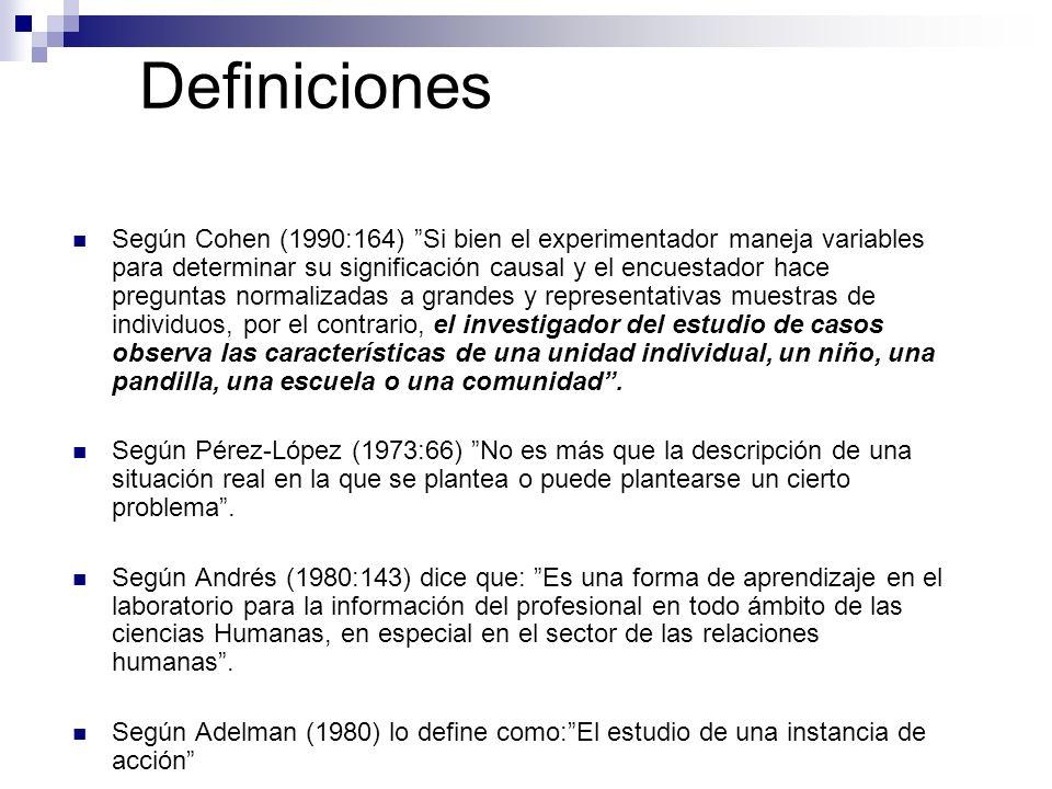Definiciones Según Cohen (1990:164) Si bien el experimentador maneja variables para determinar su significación causal y el encuestador hace preguntas
