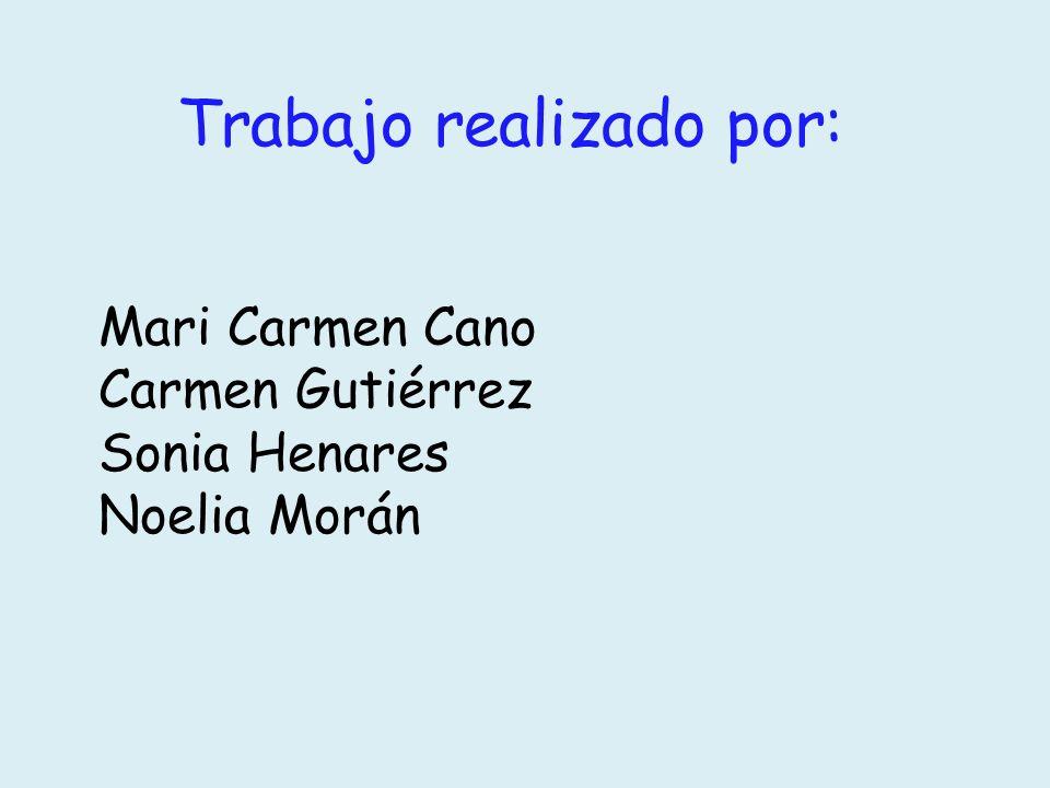 Trabajo realizado por: Mari Carmen Cano Carmen Gutiérrez Sonia Henares Noelia Morán