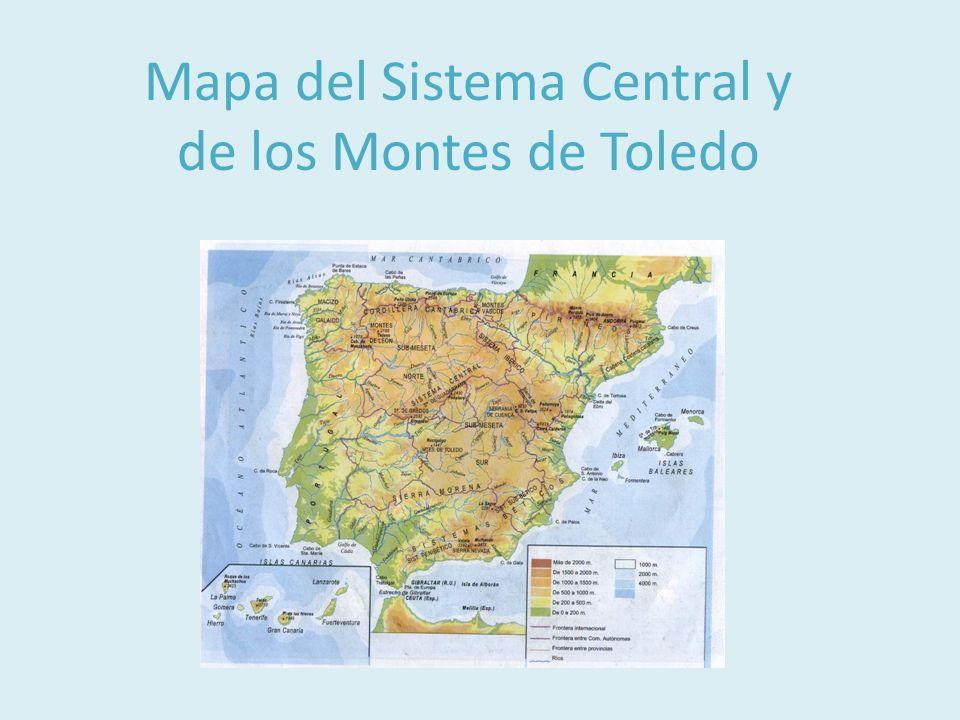 Macizo Galaico-Leonés ·Ocupa el noroeste de la Península ·Presenta un relieve fracturado, formado por bloques hundidos que en las costas forman rías ·Montañas redondeadas y de poca altitud
