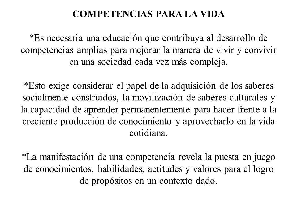 *Las competencias se manifiestan en la acción integrada; poseer conocimiento o habilidades no significa ser competente.