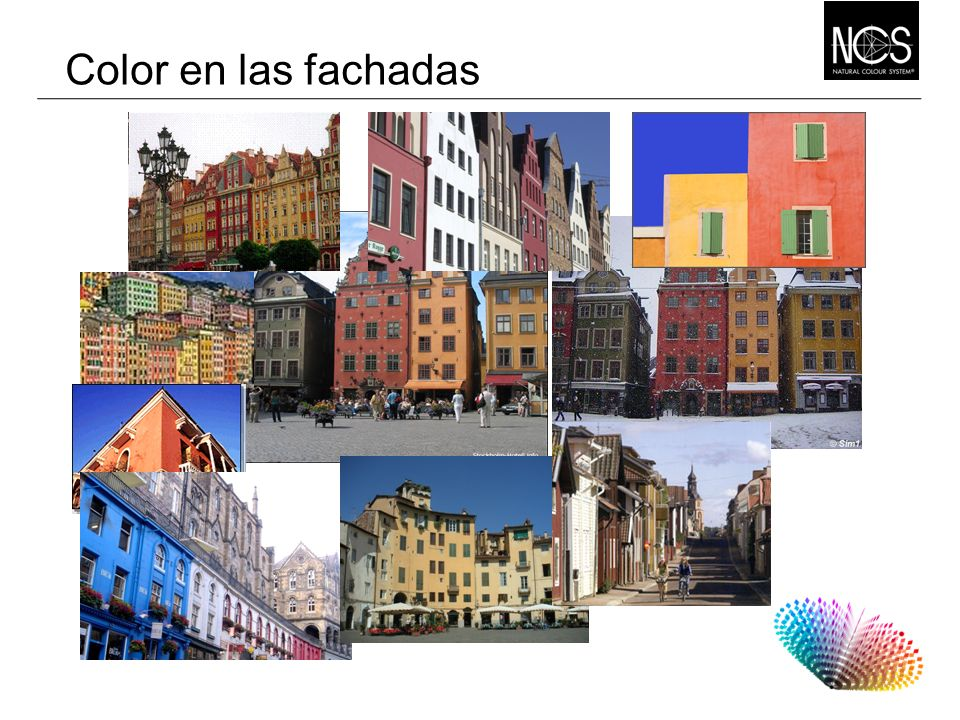 La importancia del color en el exterior Inherent and perceived colour