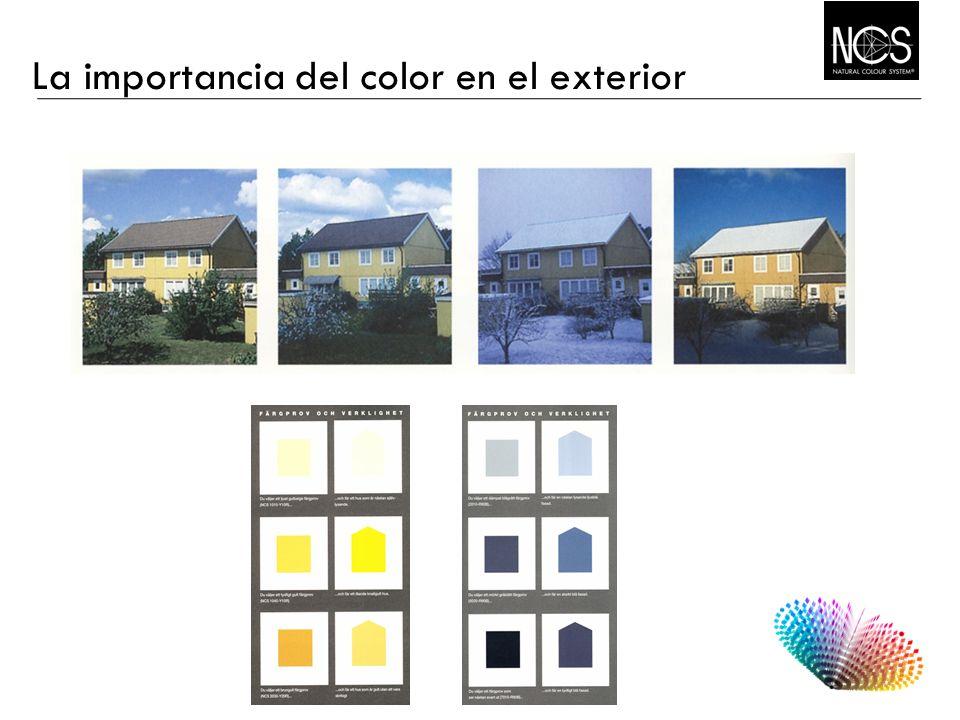 La importancia del color en el exterior Inherent and perceived colour