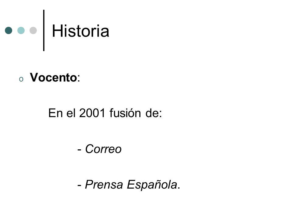 Historia Correo: - Origen: El noticiero bilbaíno (1875).