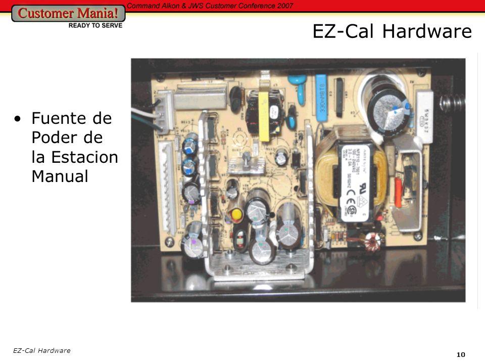 EZ-Cal Hardware 10 EZ-Cal Hardware Fuente de Poder de la Estacion Manual