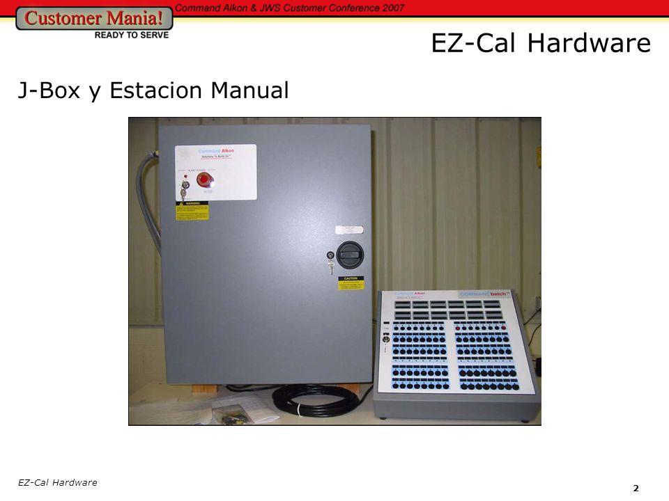 EZ-Cal Hardware 2 J-Box y Estacion Manual EZ-Cal Hardware
