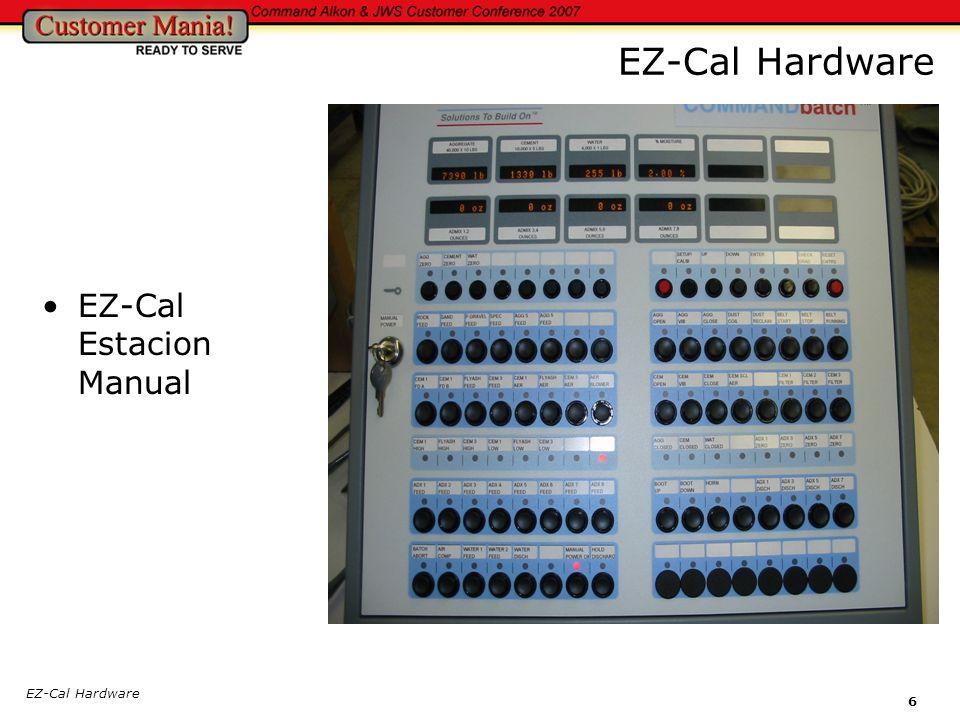 EZ-Cal Hardware 7 Interior de la Estacion Manual