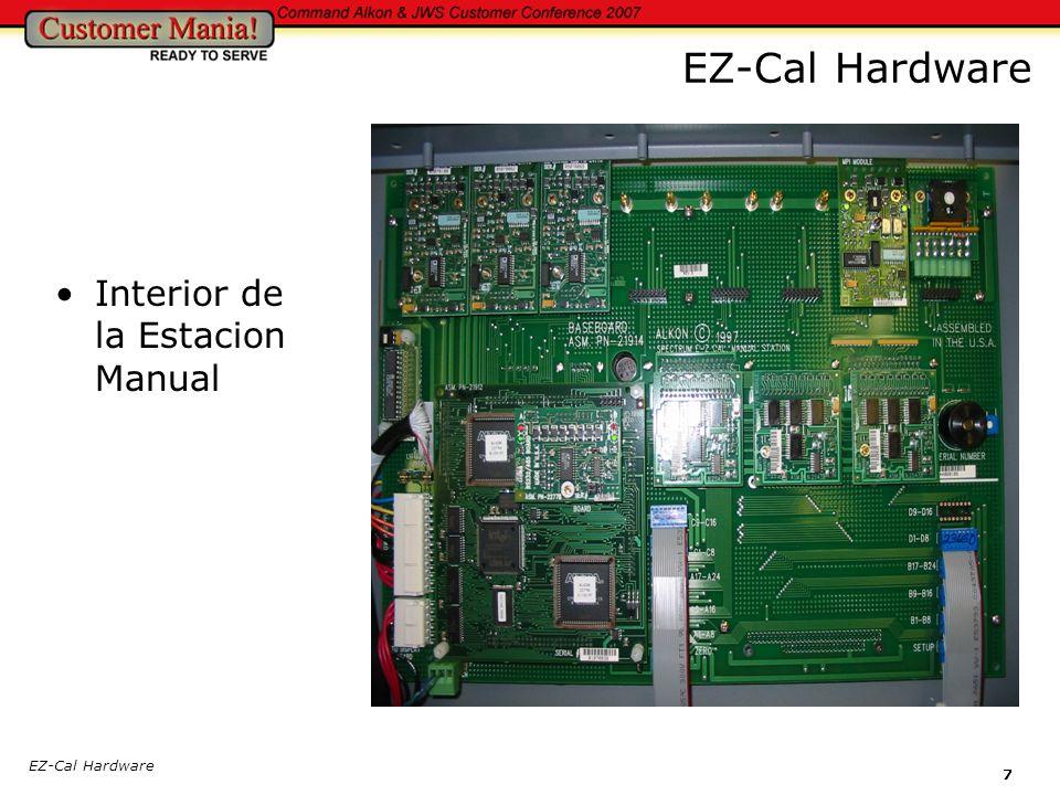 EZ-Cal Hardware 8 Tarjeta Procesadora y de Comunicacion RS232