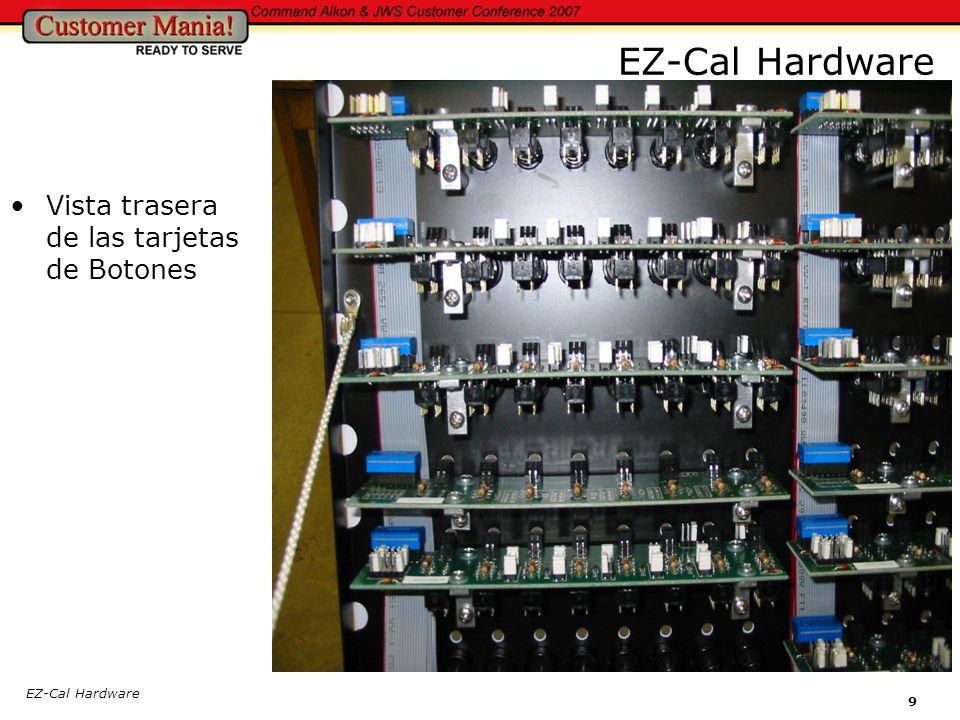 EZ-Cal Hardware 9 Vista trasera de las tarjetas de Botones