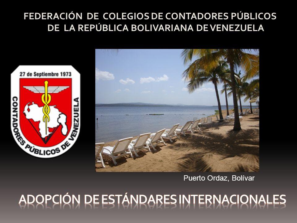 FEDERACIÓN DE COLEGIOS DE CONTADORES PÚBLICOS DE LA REPÚBLICA BOLIVARIANA DE VENEZUELA Puerto Ordaz, Bolívar