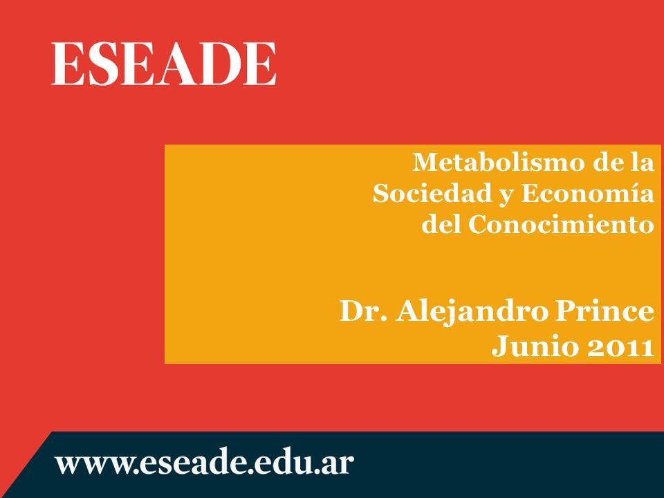 Metabolismo de la Sociedad y Economía del Conocimiento Dr. Alejandro Prince Junio 2011