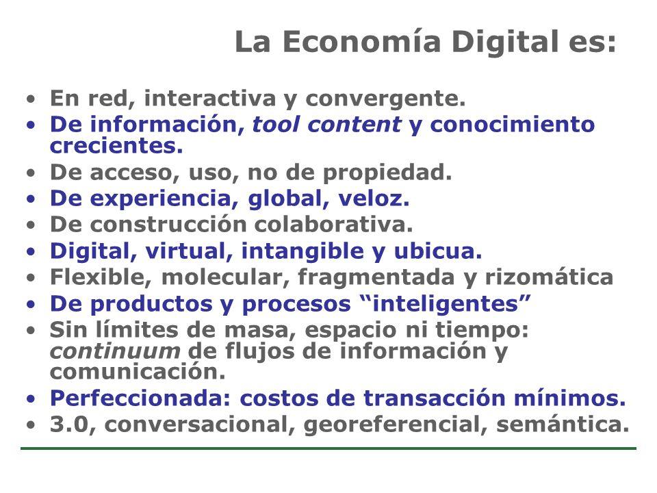Estudio de Comercio Electrónico en la Argentina En red, interactiva y convergente. De información, tool content y conocimiento crecientes. De acceso,