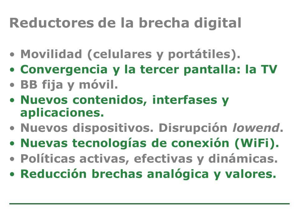 Estudio de Comercio Electrónico en la Argentina Movilidad (celulares y portátiles). Convergencia y la tercer pantalla: la TV BB fija y móvil. Nuevos c
